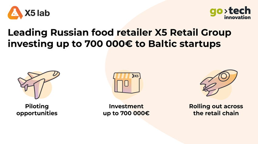 Baltics startups to receive 700,000 euros from X5 Retail Group